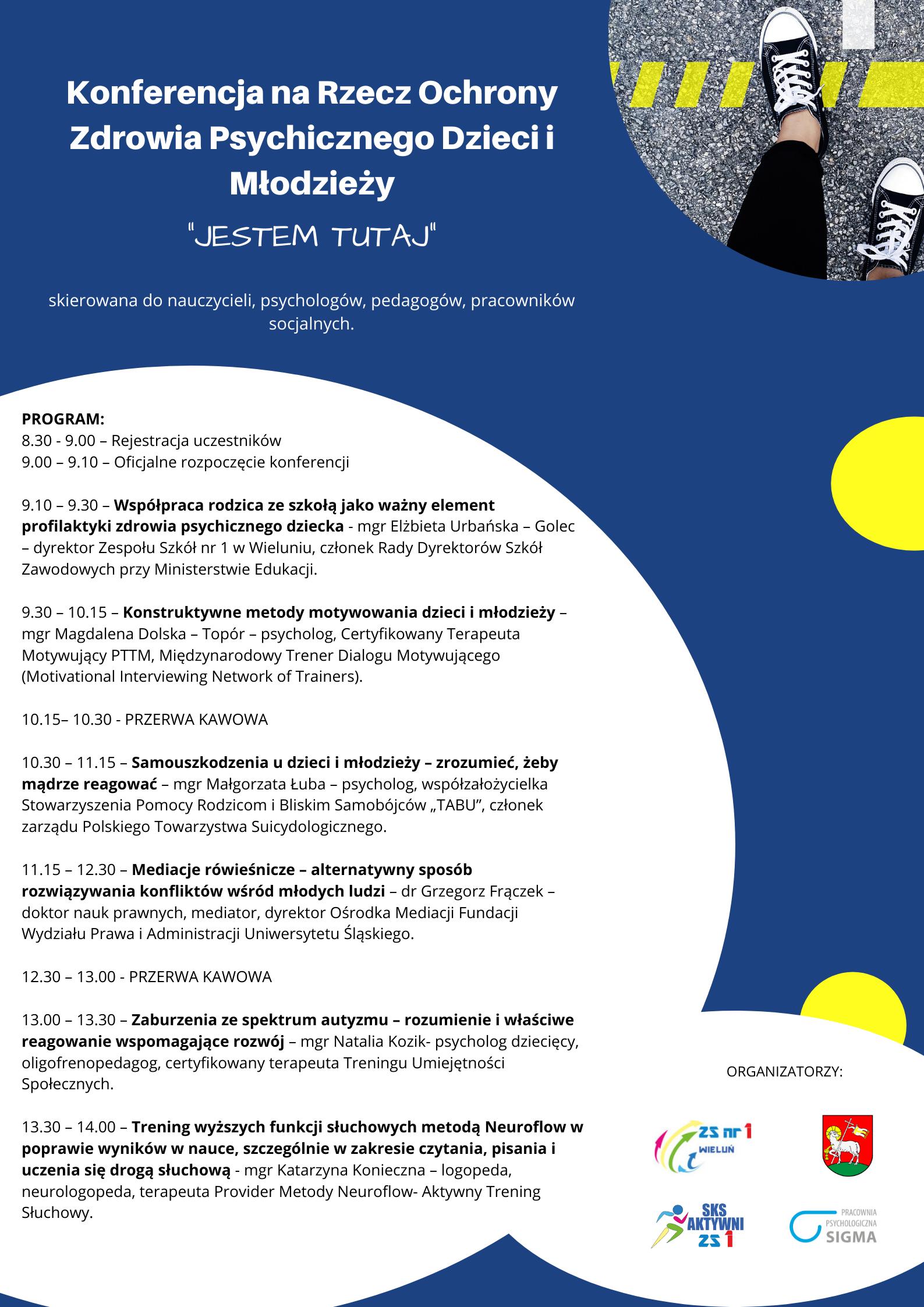 Zaproszenie na Konferencję na Rzecz Ochrony Zdrowia Psychicznego Dzieci i Młodzieży - 03.03.2020
