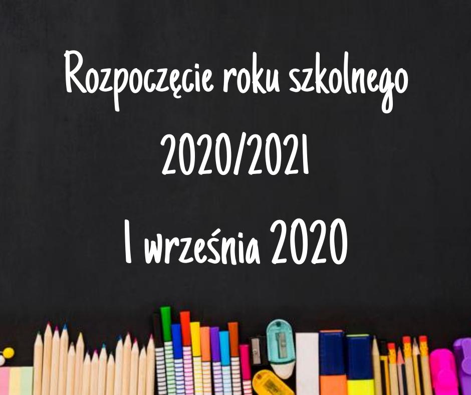 Rozpoczęcie roku szkolnego 2020/2021 w Zespole Szkół nr 1 w Wieluniu